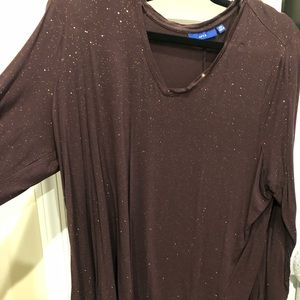 New purple with gold speckles shirt